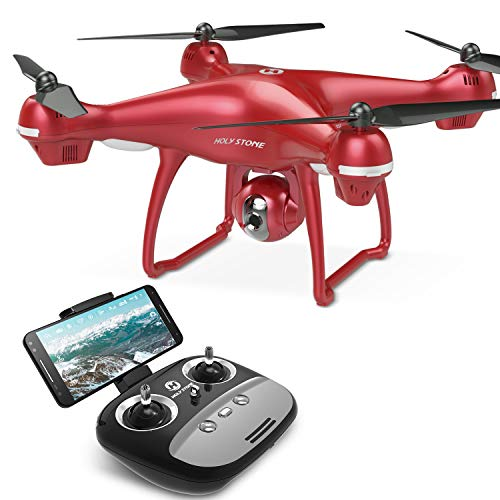 Holy Stone HS100 Drone with 1080p HD Camera FPV Live Video RC Quadcopter with GPS Return Home Function Follow Me and Altitude Hold, Drone for Beginners, Kids and Adults, Color Red (Best Real Estate Camera 2019)