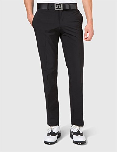 J. Lindeberg Men's Ellott Slim Micro Stretch Trousers, Black 36x32