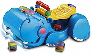Fisher Price Hipopótamo Andador Traga-Bloques
