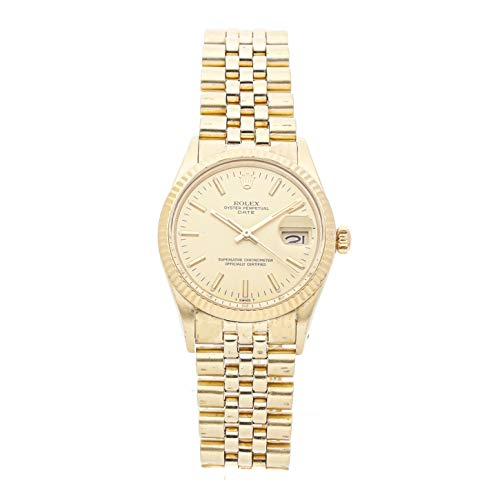Rolex Oyster Perpetual Mechanical (Automatic) Champagne Dial Mens Watch 15007 (Certified Pre-Owned)