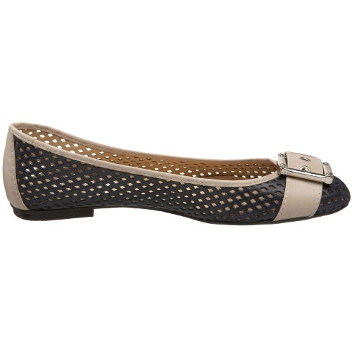 Navy Waffle Ballet NY FS French Flat Cream Women's Sole Opp60
