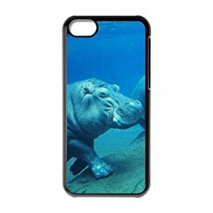 TOSOUL Print Hippo Pattern PC Hard Case for iPhone 5C