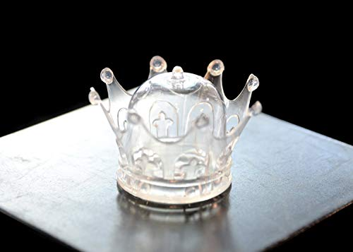 - Clear Plastic Mini Dome with Crown Design Party Decoration Favor Box (12 Sets) For Wedding, Baby Shower, Mis Quince
