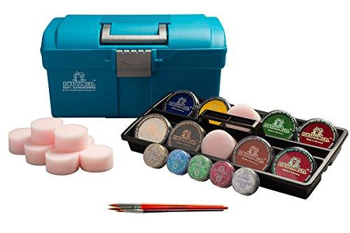 Eulenspiegel 299555 - Schmink Koffer Outdoor mit Farben, Pinseln, Glitzer und 10 Schwämmchen
