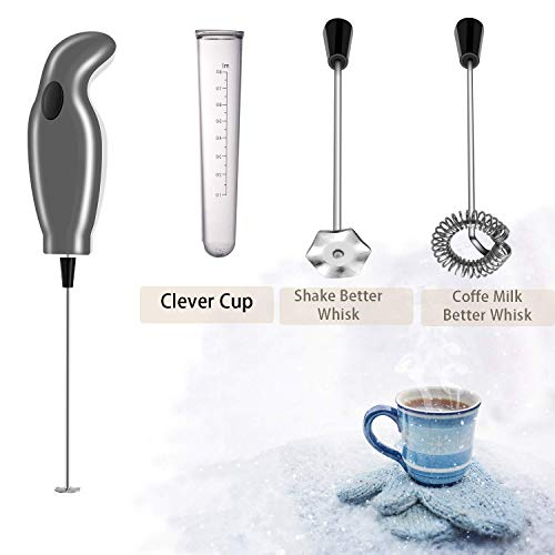 Milk Frother Handheld Electric Foam Maker with Dust Proof Turbo For Coffee, Latte, Cappuccino, Hot Chocolate, Durable…