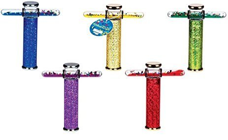 Toysmith Glitter Wand Kaleidoscope (Colors May Vary), 6'' (4-Pack)