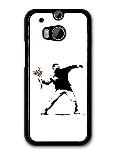 - Banksy Flower Thrower case for HTC One M8