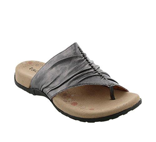 Sandal Footwear Sandals - Taos Footwear Women's Gift 2 Pewter Sandal 8 B (M) US