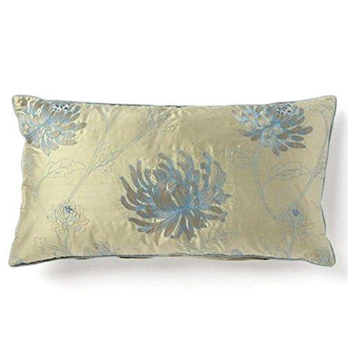 Price comparison product image Corona Décor Corona Decor Fine Embroidered Floral Design Silk Accent Pillow