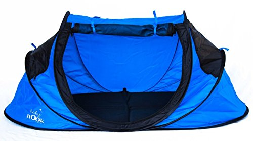 Baby Nook Travel Bed and Beach Tent (blue), Provides Shad...