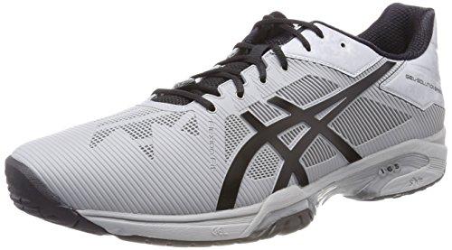 Asics Gel-Solution Speed 3, Scarpe da Tennis Uomo Grigio (Mid Grey/Black)
