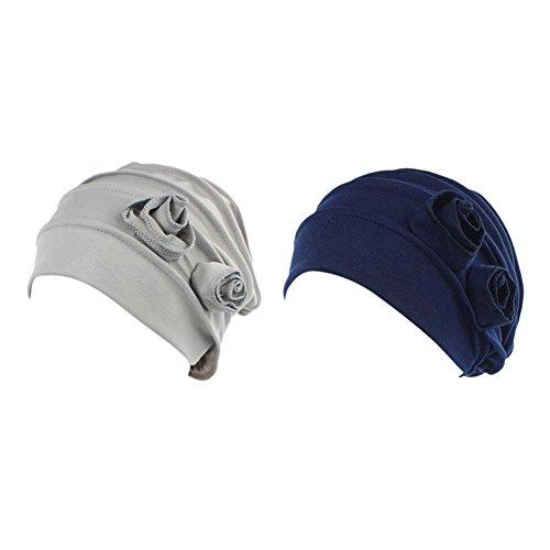 iShine 2 Pack Chemo Cancer Head Scarf Hat Cap Ethnic Cloth Print Turban Headwear