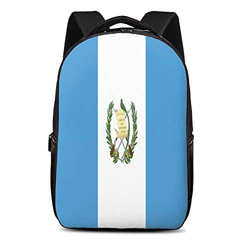 KiuLoam Guatemala Flag School Backpack for Girls School Computer Bookbags Travel Dayback Laptop Bag for Boys Girls Teens