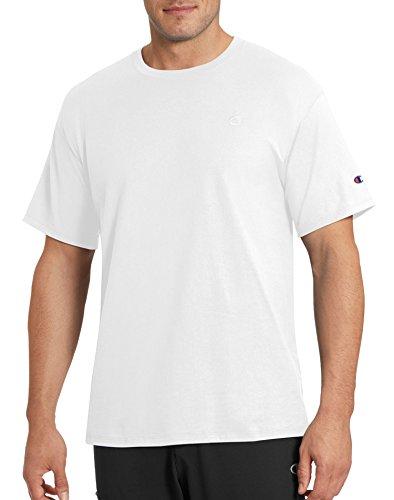 - Champion Men's Classic Jersey T-Shirt, White, S