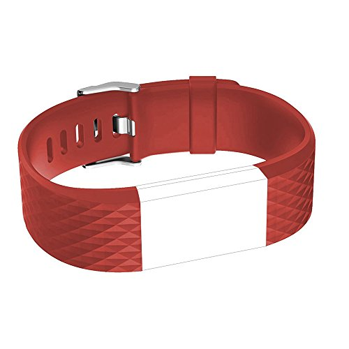 iGK For Fitbit Charge 2 Bands, Adjustable Replacement Bands with Metal Clasp for Fitbit Charge 2 Wristbands Special Edition Red Small