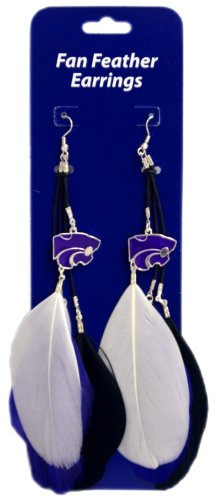 Wholesale Dropship Costumes Jewelry - Littlearth NCAA Kansas State Wildcats Feather