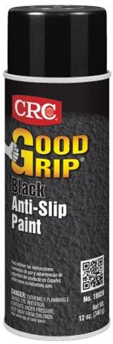 CRC Industries Inc 18026 - GOOD GRIP Safety Anti-Slip Paint - 12 oz, Aerosol Can, Black Color