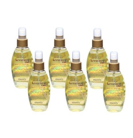 Organix Anti-Breakage Keratin Instant Repair Weightless Healing Oil, 4 Ounce (Set of 6) (Organix Argon Oil Conditioner)