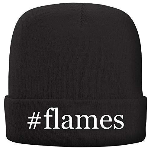 BH Cool Designs #Flames - Adult Hashtag Comfortable Fleece Lined Beanie, Black