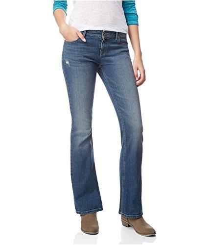 Aeropostale Womens Chelsea Boot Slim Fit Jeans, Blue, 00 Regular (Jeans Aeropostale For Women)