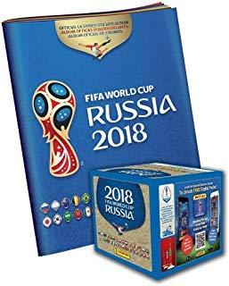 (2018 Panini Russia FIFA World Cup Soccer Sticker Bundle with 50 Pack Box & Sticker Album - Fanatics Authentic)