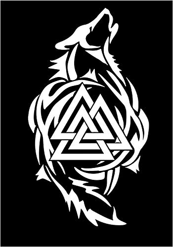 Firehouse Graphics Odin Thor Viking Tribal Norse Wolf Valknut Sticker Decal Wolves (5