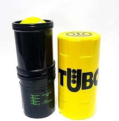Tuboplus - Bote presurizador de pelotas de padel y tenis, color (amarillo flúor) Ahorra bolas por un tubo + mas vida para tus bolas