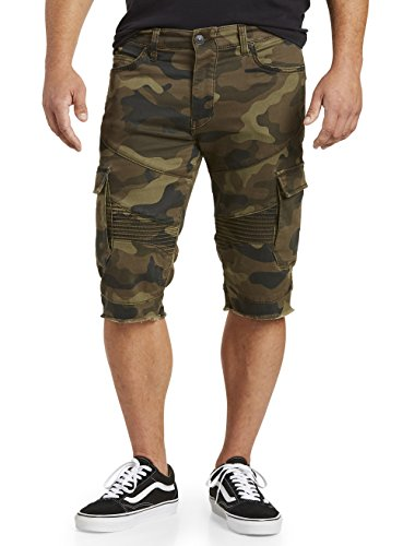 True Religion Big and Tall Camo-Print Moto Cargo - And Big Embroidered Shorts Tall