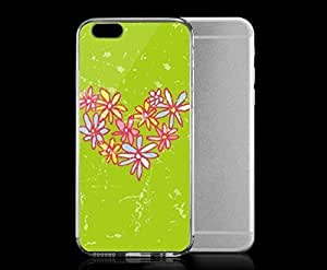 Light weight with strong PC plastic case for iPhone 5 5s Art Love Daisy Heart