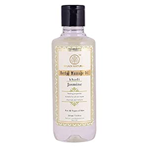 KHADI NATURAL Ayurvedic Jasmine Massage Oil, 210ml