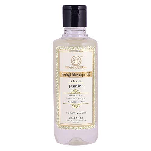 Khadi Natural Jasmine Herbal Massage Oil for all Skin Types (210 ml)