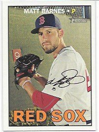 (Matt Barnes 2016 Topps Heritage High Number Boston Red Sox Card #649)
