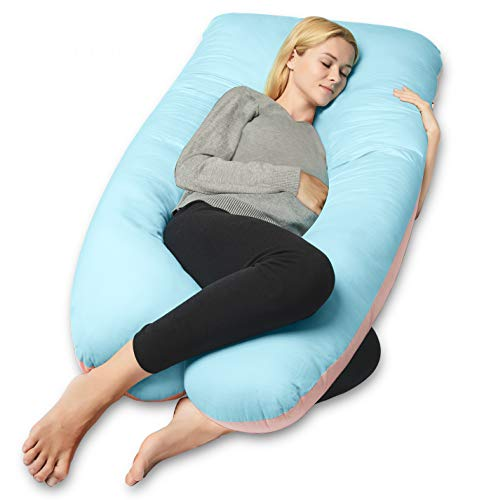 QUEEN ROSE Full Body Pregnancy Pillow,U-shaped Maternity Pillow for Sleeping,w/Removable Cotton...