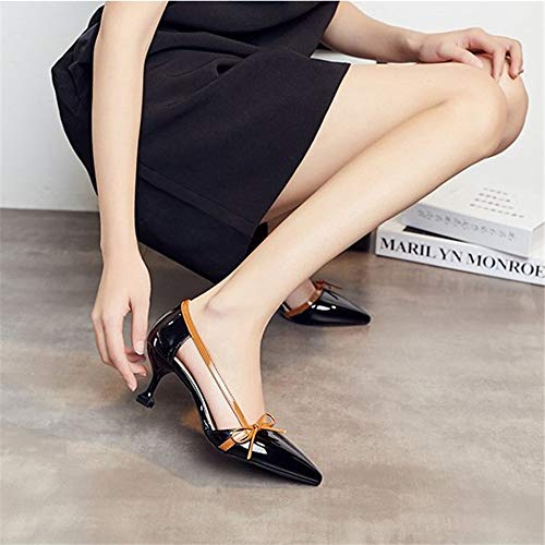 Pointed Women Jqdyl Sandals Heels And Fashion New Stiletto Bow Shoes Summer Spring High Female Single q6Uqzxrf