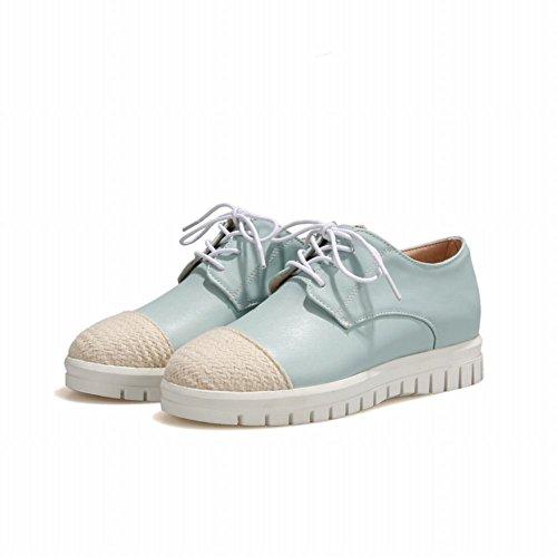 Show Shine Womens Fashion Sweet Oxfords Shoes Light Blue ZhDnA