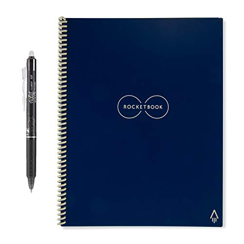 "Rocketbook Ever last Smart Reusable Notebook, Letter Size, 8.5"" x 11"", Midnight Blue (EVR-L-K-CDF)"