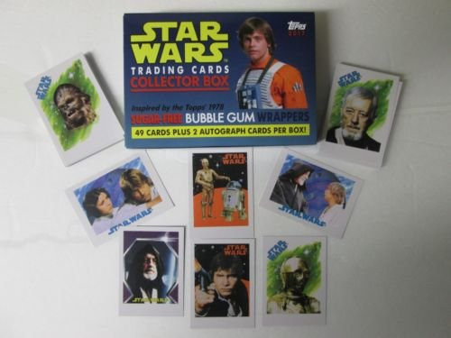 2017 Topps STAR WARS 1978 Sugar Free Bubble Gum Wrapper Trading Cards Complete Base Set of 49 cards With Box Bubble Gum Trading Cards