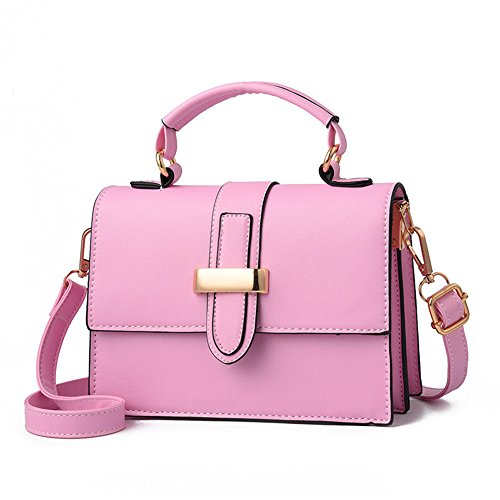 Meaeo New Simple And Convenient Shoulder Bag Small Women, Green Pink Square Bag