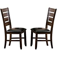 Homelegance Amaillia Set of 2 Modern Dining Chairs Ladder Back Design, Oak
