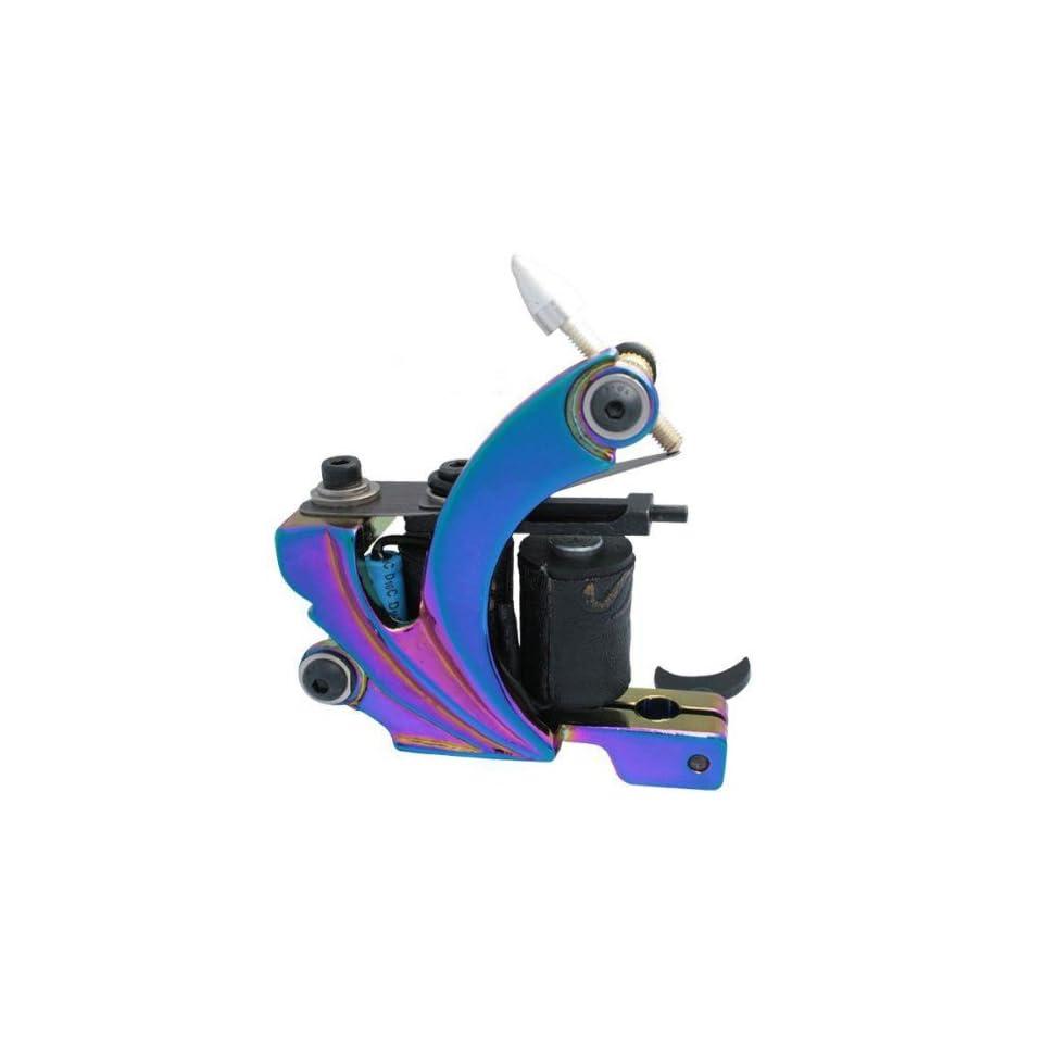 BLUE Cast Iron Tattoo Machine Liner Shader Gun Hybrid