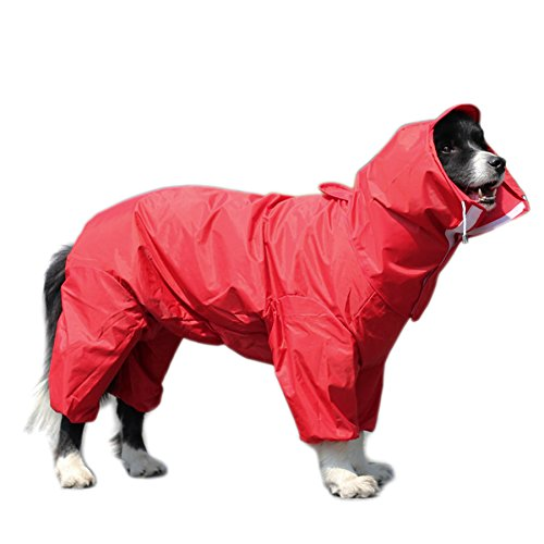 Alfie Pet - Bella Rainy Days Waterproof Raincoat (for Dogs and Cats) - Color: Red, Size: XXL -
