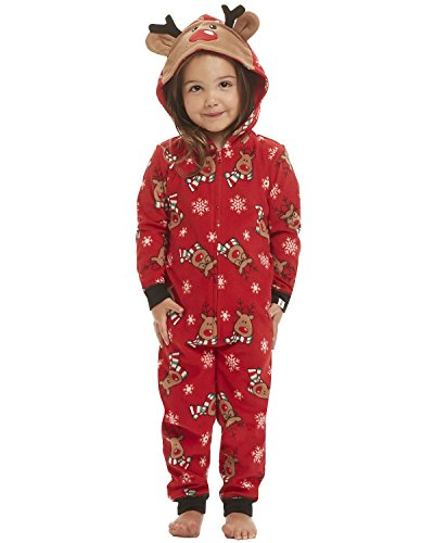 GIKING Christmas Matching Family Pajamas Set Santa's Deer Sleepwear Jumpsuit Hoodies Baby 6M