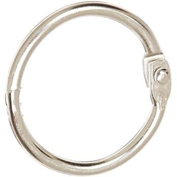 """School Smart Nickel Plated Loose Leaf Ring, 1"""" Diameter (Pack of 100)"""