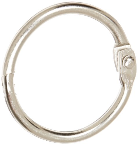 "School Smart Nickel Plated Loose Leaf Ring, 1"" Diameter (Pack of 100)"