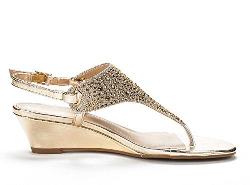 gold Aditi Sandals PAIRS Wedge New DREAM Dress Womens Low 78PwUqF