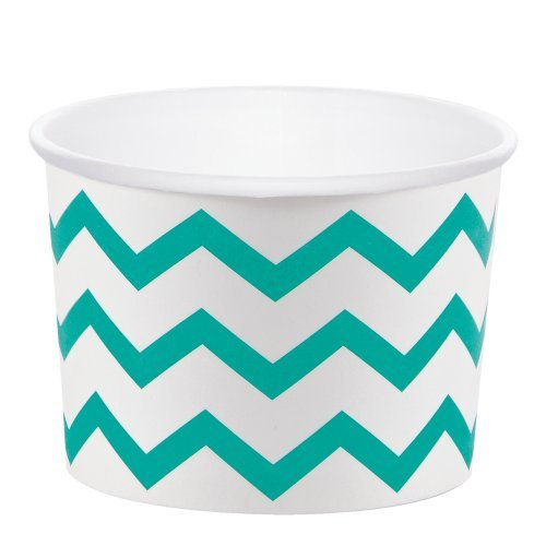 Teal Lagoon 9.5oz Paper Treat Cups (6 ct)
