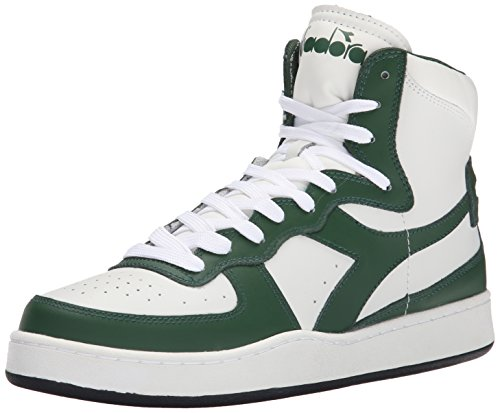 Diadora Men's MI Basketball Shoe - White/Foliage Green - ...