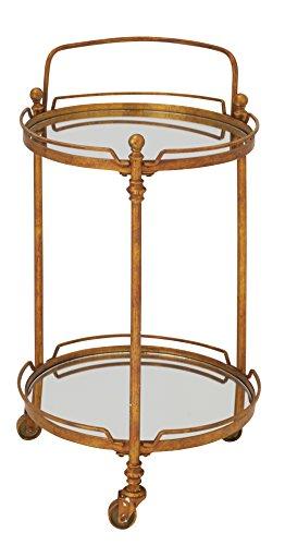 - Deco 79 87439 Metal & Mirror bar Cart