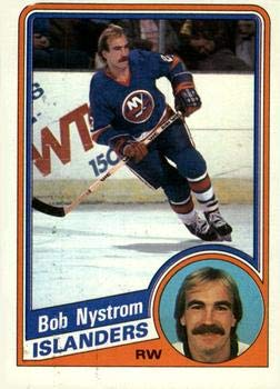1985-86 Topps #11 Bob Nystrom New York Islanders Hockey Card IJshockey