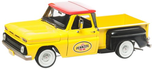 1965 Chevy Pick Up C-10 Pennzoil 1/18 Greenlight Amarelo